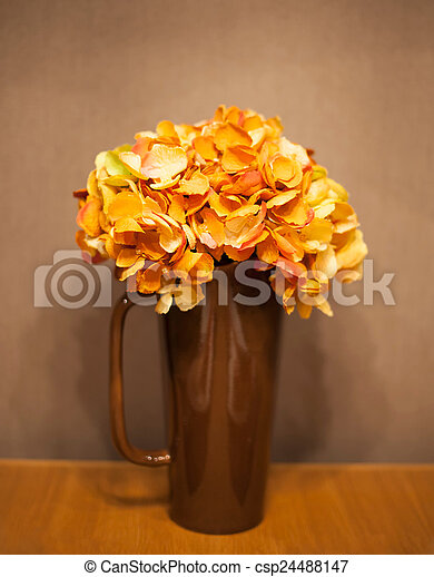 Bouquet of flowers in a vase - csp24488147