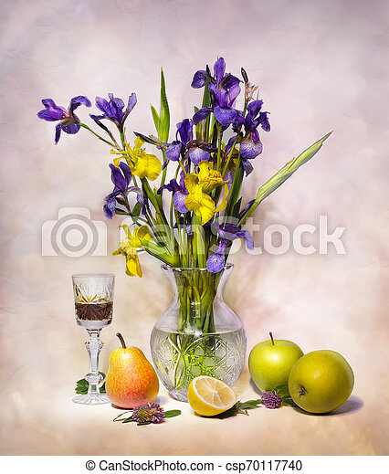bouquet of flowers in a vase - csp70117740