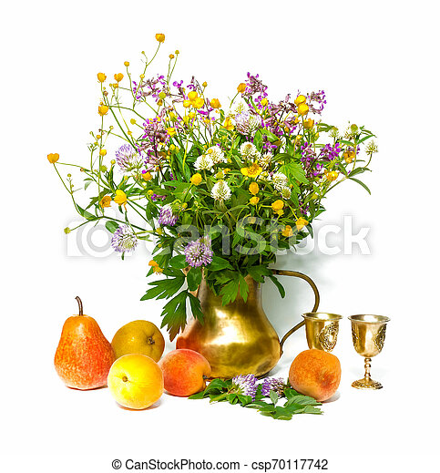 bouquet of flowers in a vase - csp70117742