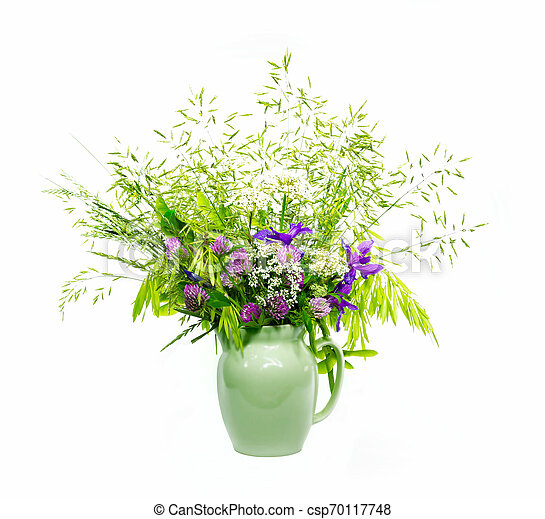 bouquet of flowers in a vase - csp70117748