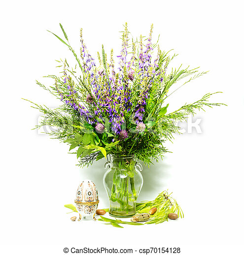 bouquet of flowers in a vase - csp70154128