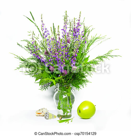 bouquet of flowers in a vase - csp70154129