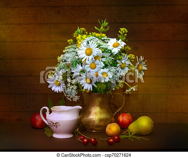 bouquet of flowers in a vase - csp70271624