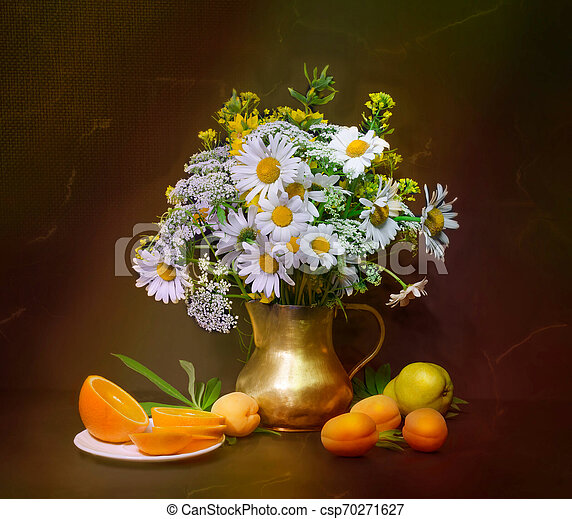 bouquet of flowers in a vase - csp70271627