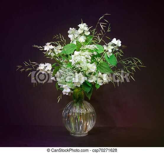 bouquet of flowers in a vase - csp70271628