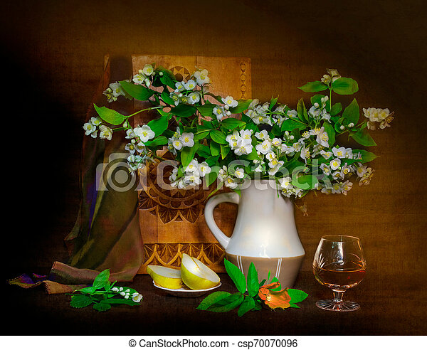 bouquet of flowers in a vase - csp70070096
