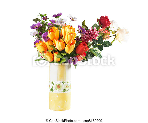 bouquet of flowers in a vase - csp8160209