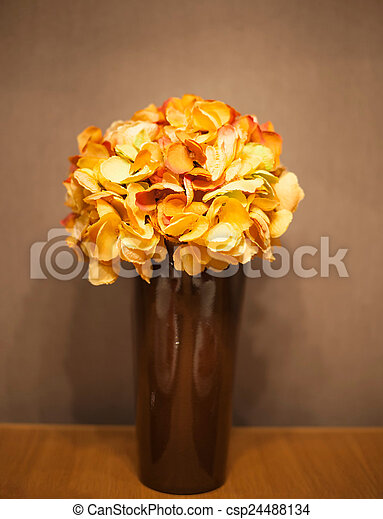 Bouquet of flowers in a vase - csp24488134