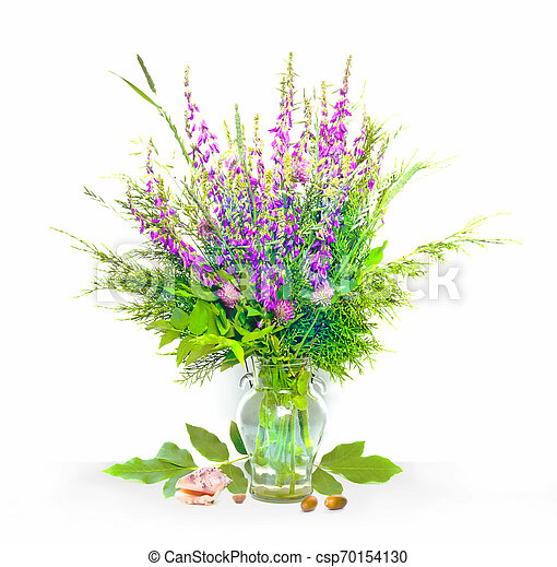 bouquet of flowers in a vase - csp70154130