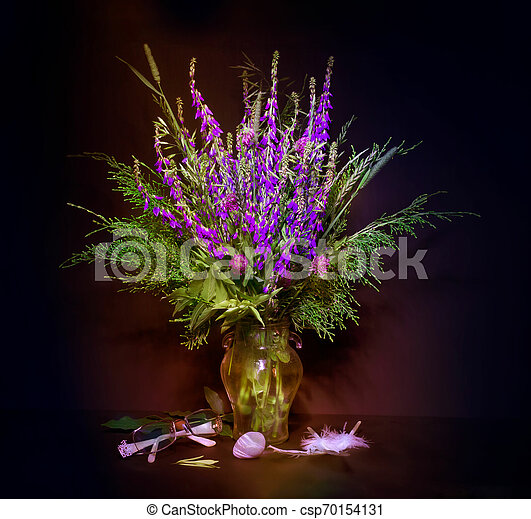 bouquet of flowers in a vase - csp70154131