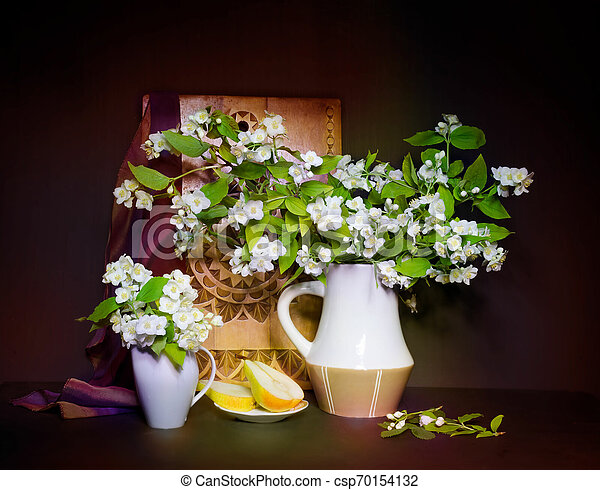 bouquet of flowers in a vase - csp70154132