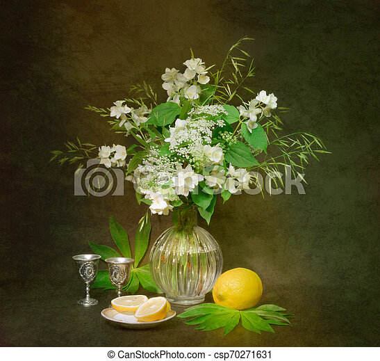 bouquet of flowers in a vase - csp70271631