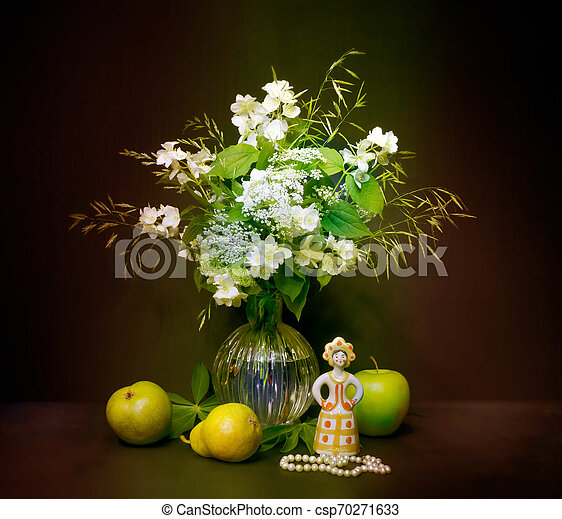 bouquet of flowers in a vase - csp70271633