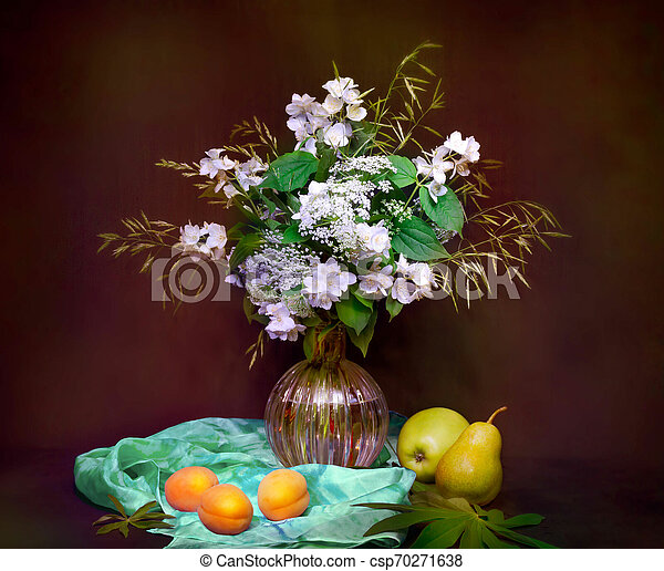 bouquet of flowers in a vase - csp70271638