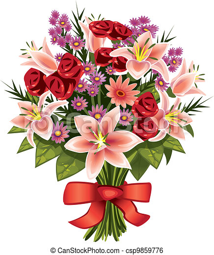 Bouquet Illustrations And Clipart 77894 Royalty Free