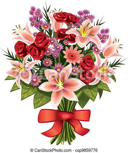 bouquet of flowers - csp9859776