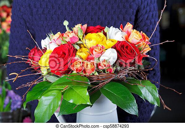 Bouquet of flowers - csp58874293