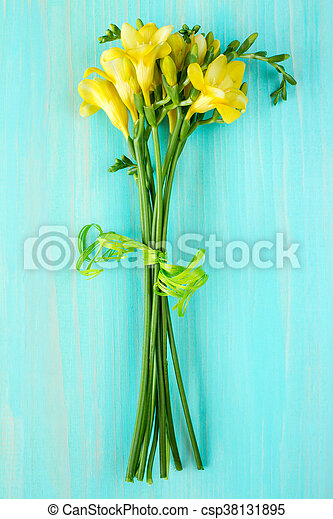 Bouquet of freesia flowers. - csp38131895