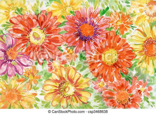 Bouquet of gerberas close up - csp3468638