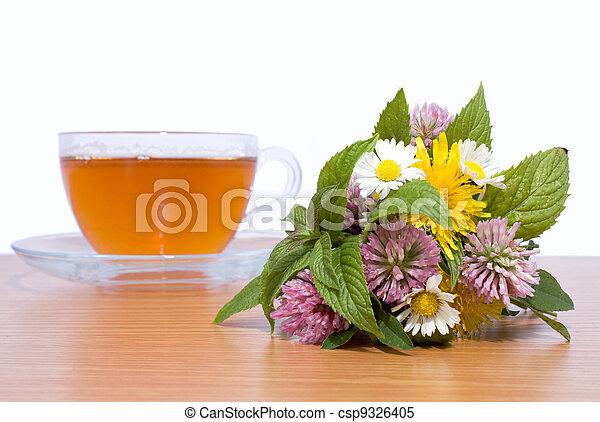 bouquet of herbs - csp9326405