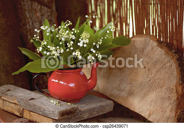 bouquet of lily of the valley  - csp26439071