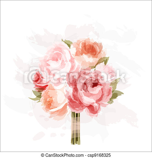 Bouquet of peonies - csp9168325