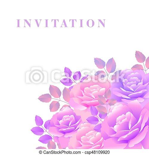 bouquet of rose vector illustration - csp48109920