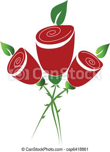 Bouquet of roses - csp6418861