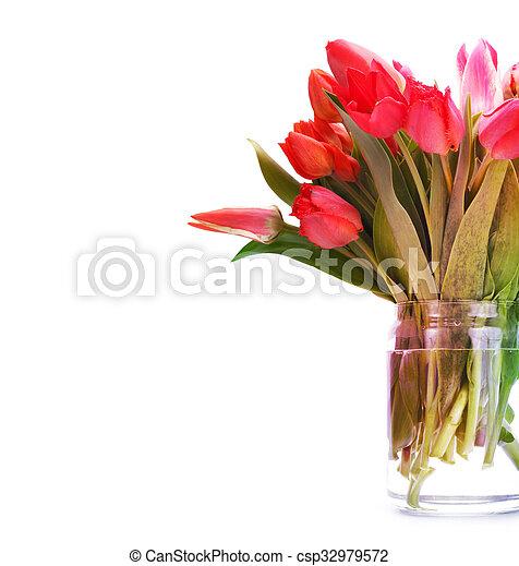 bouquet of tulip flowers - csp32979572