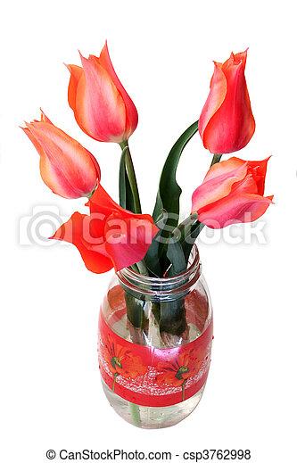 bouquet of tulips - csp3762998