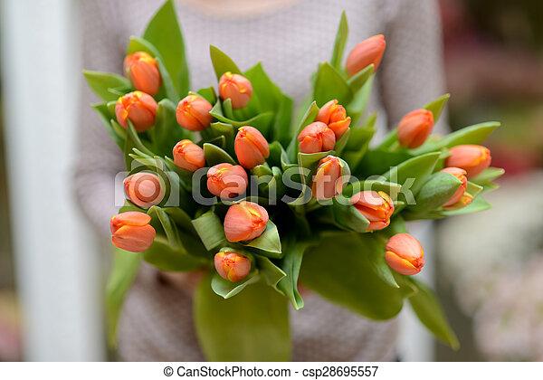 Bouquet of tulips - csp28695557