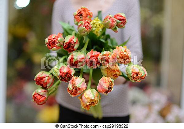 Bouquet of tulips - csp29198322