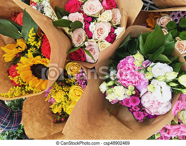 bouquets of flowers - csp48902469
