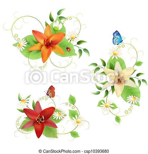 bouquetten, bloemen - csp10393680