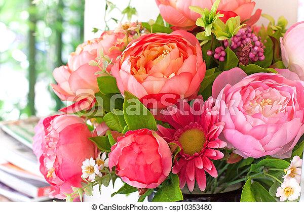 bouquetten, bloemen - csp10353480