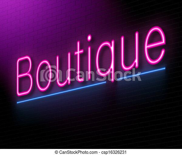 Un concepto Boutique. - csp16326231