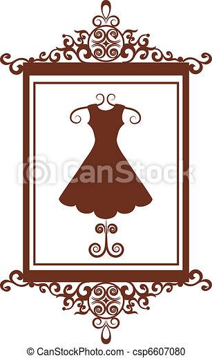 Señal de boutique de moda retro con vestido - csp6607080