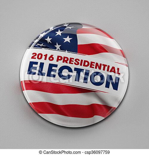 bouton, 2016, élection, présidentiel - csp36097759