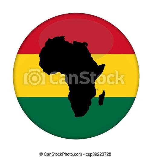 bouton afrique drapeau continent rastafarian bouton