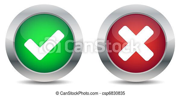 bouton, approuvé, rejeté - csp6830835