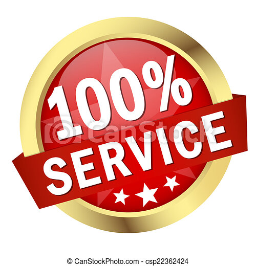 bouton, bannière, 100%, service - csp22362424