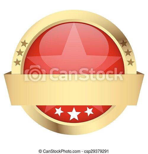 bouton, bannière, gabarit - csp29379291