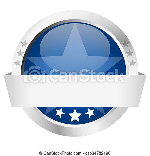bouton, bannière, gabarit - csp34782190