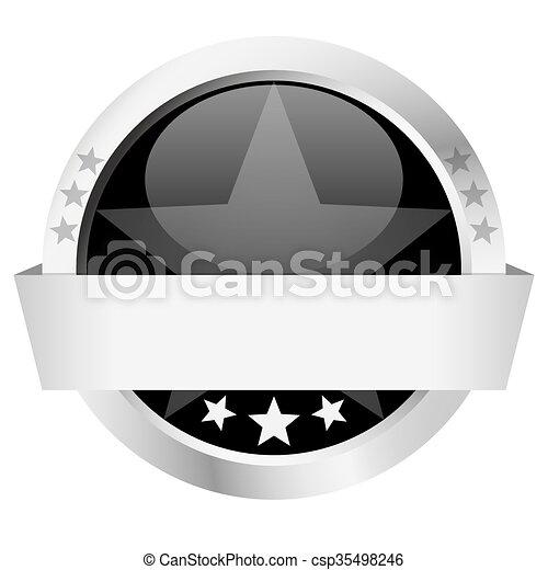 bouton, bannière, gabarit - csp35498246