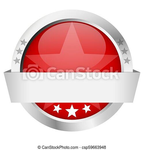 bouton, bannière, gabarit - csp59663948
