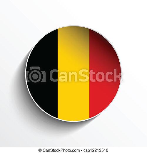 Bouton drapeau papier belgique cercle ombre vecteur - Bouton de liege ...