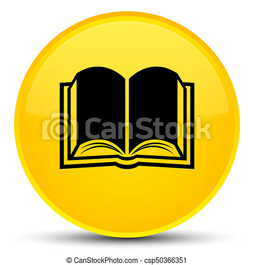 Bouton Jaune Livre Rond Special Icone