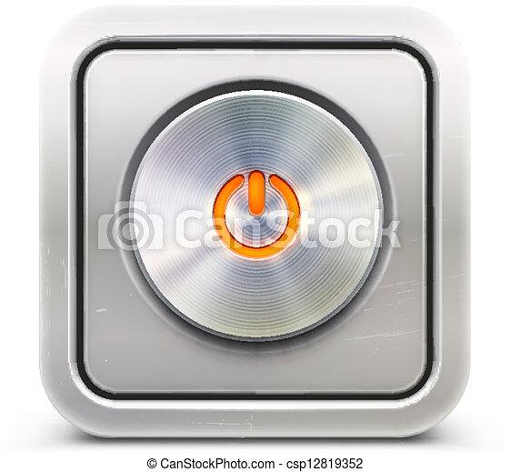 bouton, puissance - csp12819352