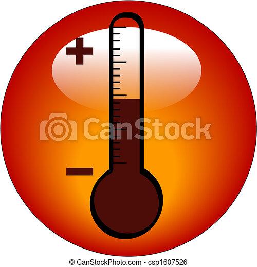 bouton, thermomètre, ou, icône - csp1607526