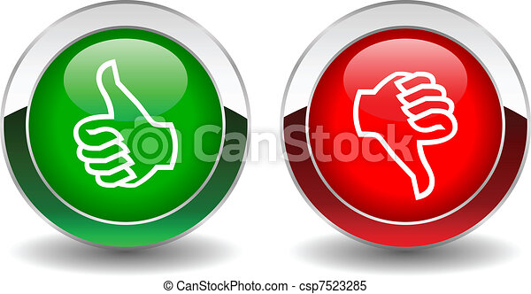 boutons, bas, vecteur, haut, pouces - csp7523285